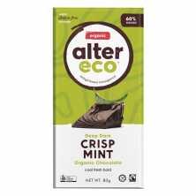 Alter Eco<br />Dark Crisp Mint Chocolate 80g