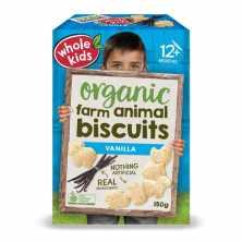 Whole Kids <br />Little Munchkins Biscuits Vanilla 150g
