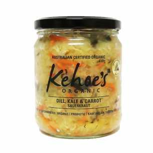 Dill, Kale and Carrot Sauerkraut