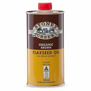 Organic Flaxseed Oil Brown