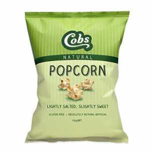 Popcorn Natural Slightly Sweet Slightly Salty