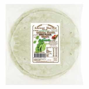 Organic Quinoa Spelt Flour Spinach Wraps