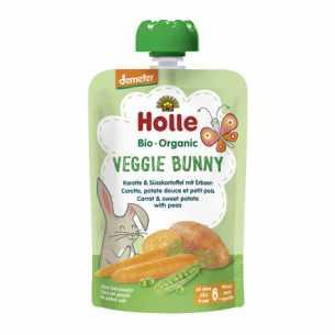 Veggie Bunny - Carrot and Sweet Potato with Peas