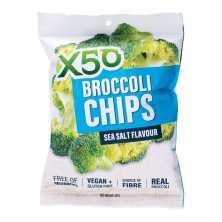 X50<br />Broccoli Chips Sea Salt 40g