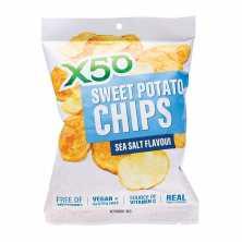 X50<br />Sweet Potato Chips Sea Salt 40g