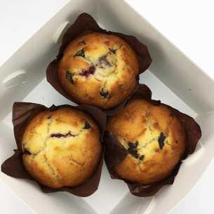 Dark Chocolate and Cherry Muffin