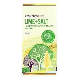 Raw Lime and Salt 75% Dark Chocolate