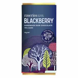 Raw Blackberry 75% Dark Chocolate
