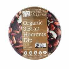 Organic Indulgence<br />Organic 3 Bean Hommus Dip 200g