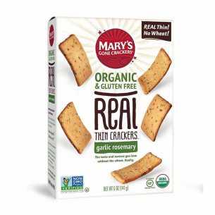 Real Thin Crackers Garlic Rosemary