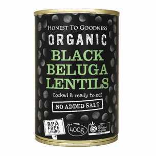 Black Beluga Lentils (Cooked)