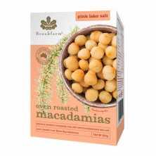 Oven Roasted Whole Macadamias Pink Lake Salt