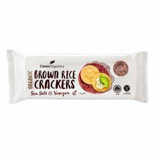 Brown Rice Crackers Sea Salt and Vinegar