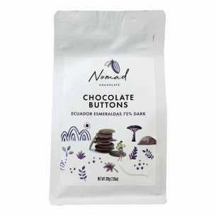 Chocolate Buttons Esmeraldas 72% Dark