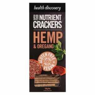 Hemp and Oregano Nutrient Crackers