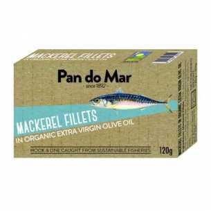 Mackerel Fillets in Organic Olive Oil