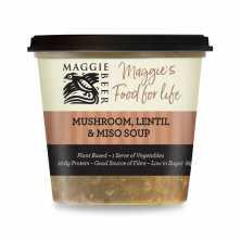 Mushroom Lentil and Miso Soup