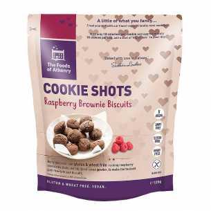Raspberry Brownie Cookie Shots