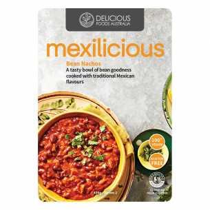 Mexilicious Bean Nachos<br>