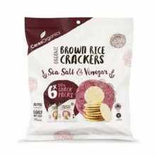Brown Rice Crackers Sea Salt and Vinegar Multi Pack