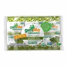 Organic Roasted Seaweed Snacks Olive Oil 6 packs