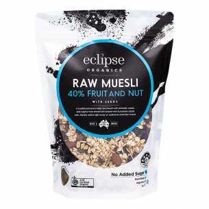Organic Raw Muesli 40% Fruit and Nut