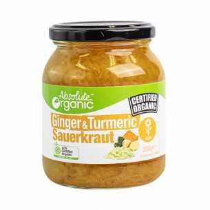 Ginger and Turmeric Sauerkraut