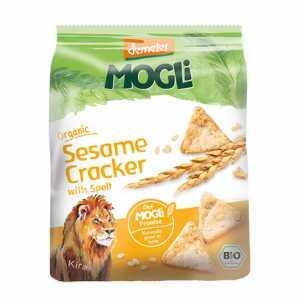 Organic Spelt Crackers with Sesame
