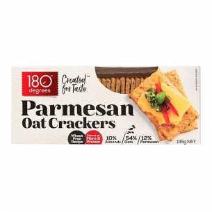Parmesan Oat Crackers