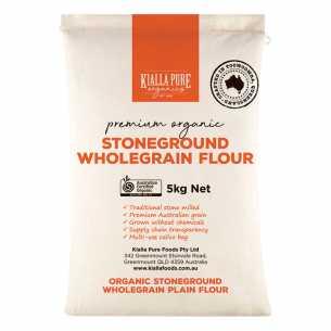 Organic Stoneground Wholegrain Plain Flour BULK (paper bag)