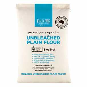 Organic Unbleached Plain Flour BULK (calico bag)