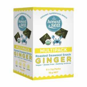 Organic Seaweed Snacks Ginger Multipack