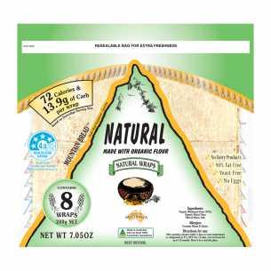Natural (Organic Flour) Wrap Bread (8 pieces)